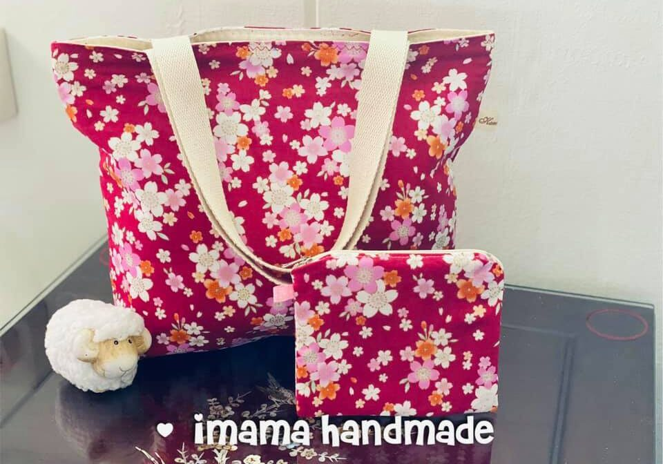 imama handmade customize lunch tote bags